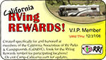 CalARVC RVing Rewards Logo